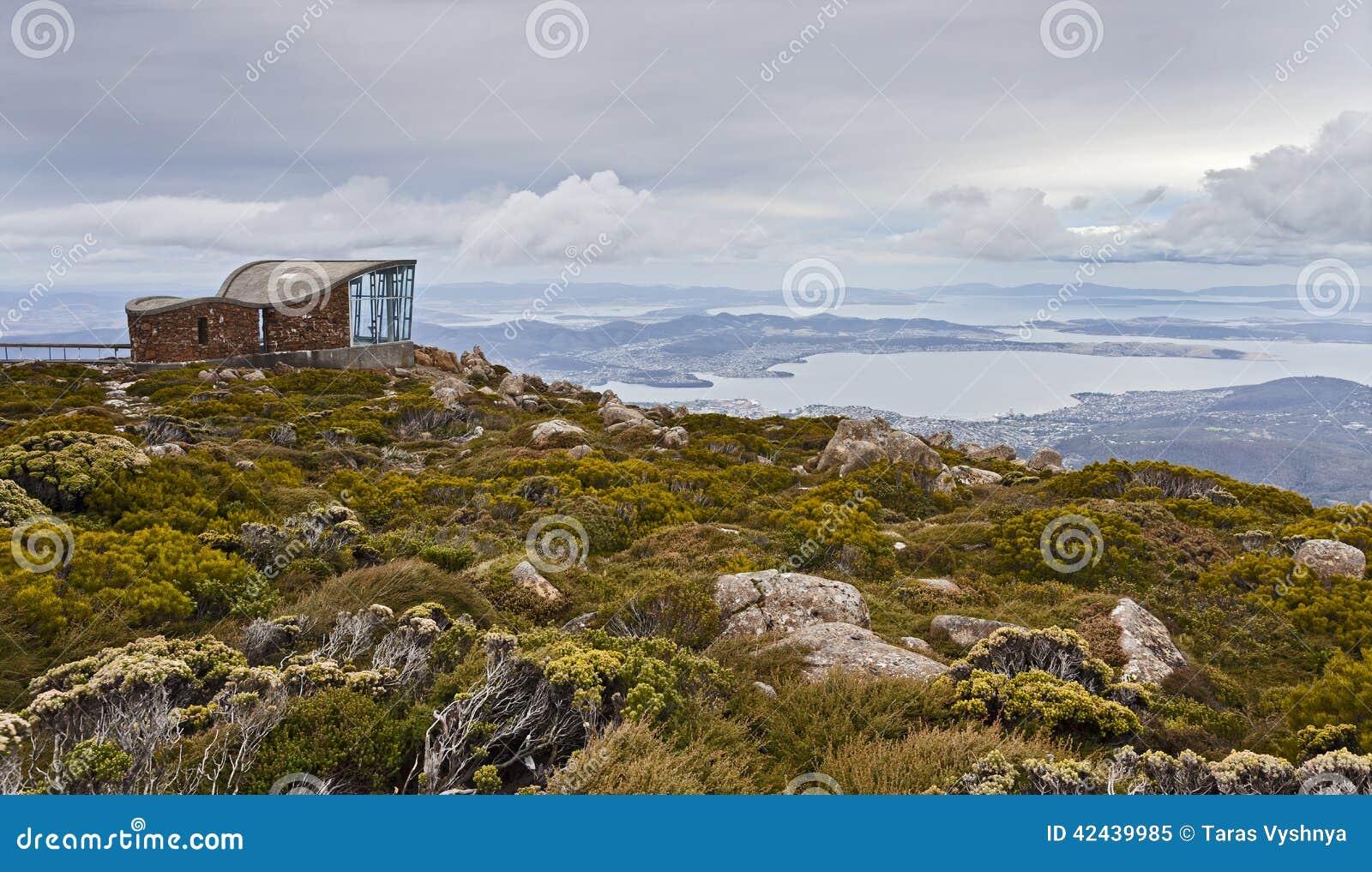 Hobart Mt Wellington Hut Lookout