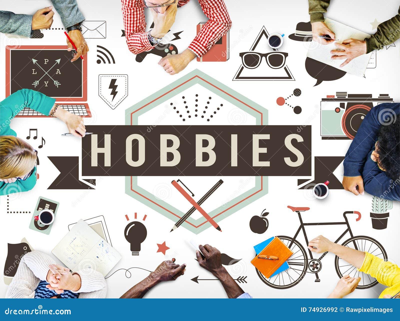 hobbies activity amusement freetime interest concept stock