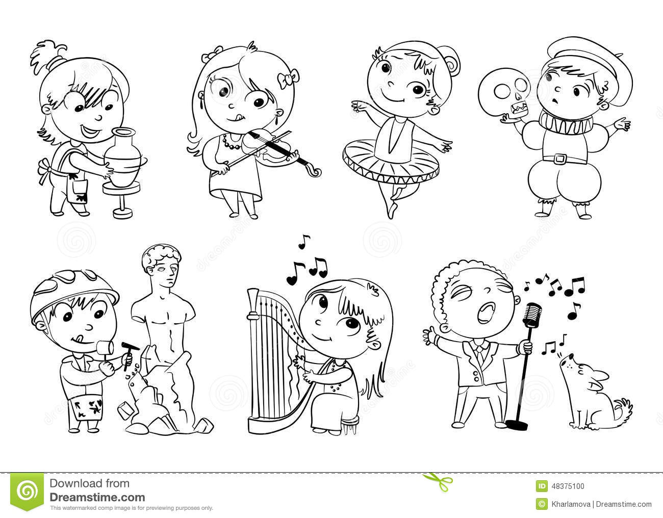 hobbies and interests stock vector image 48375100 hobbies and interests