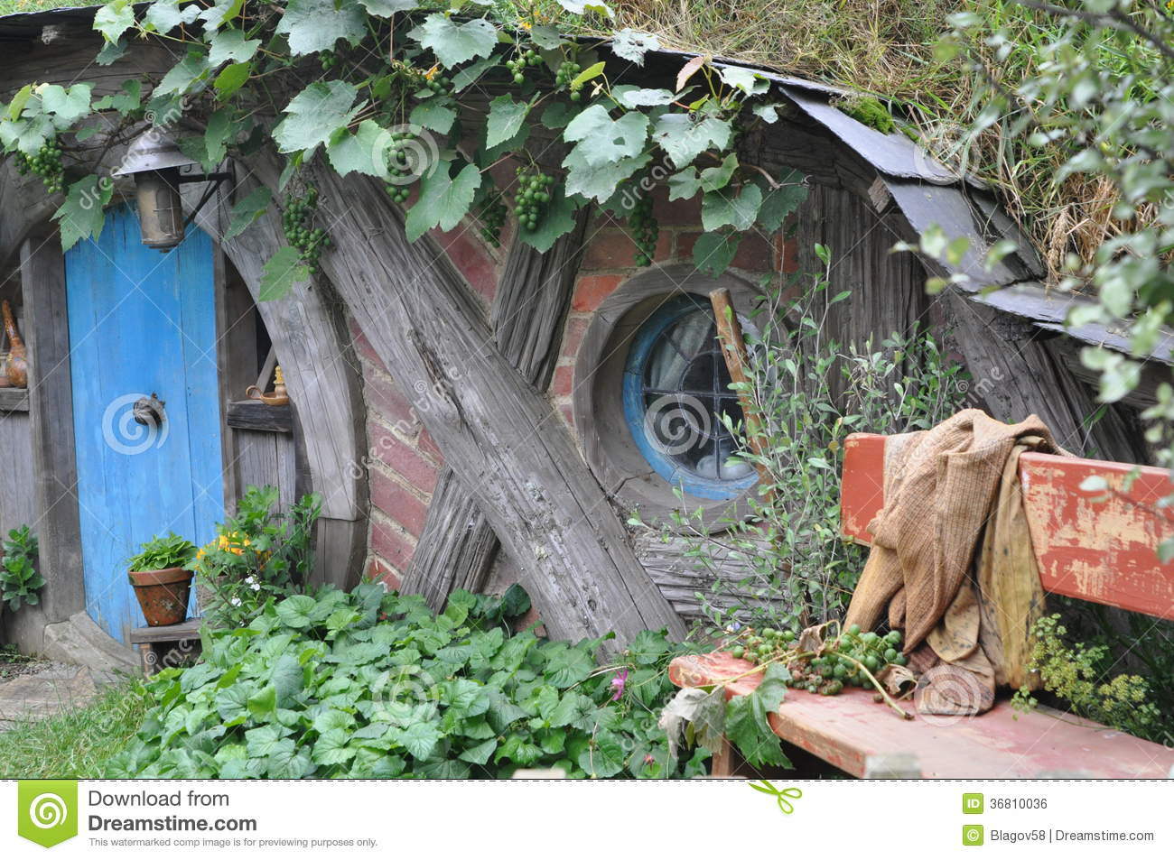 hobbit house editorial photo image of north lord house 36810036. Black Bedroom Furniture Sets. Home Design Ideas