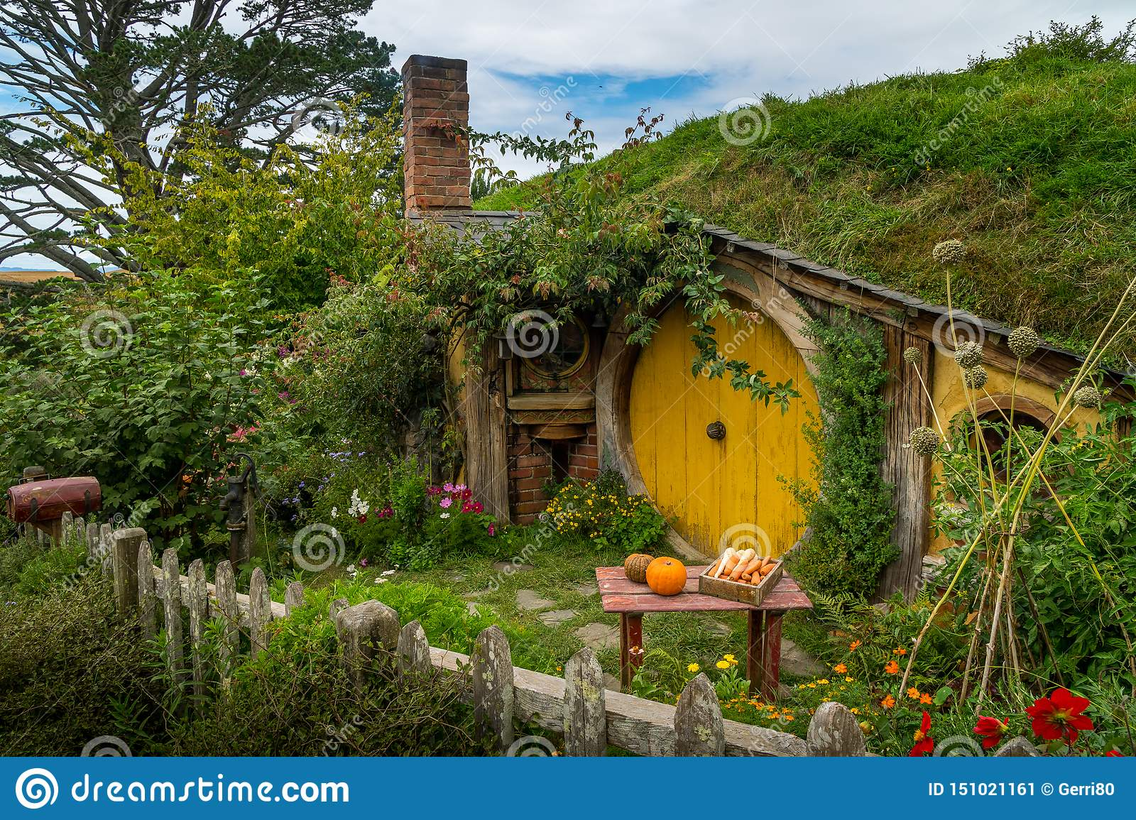 Hobbit house at the movie set of Lord of the rings