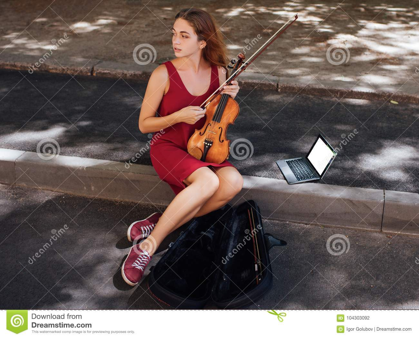 Hobby för konst för musikalisk kapacitet för gata