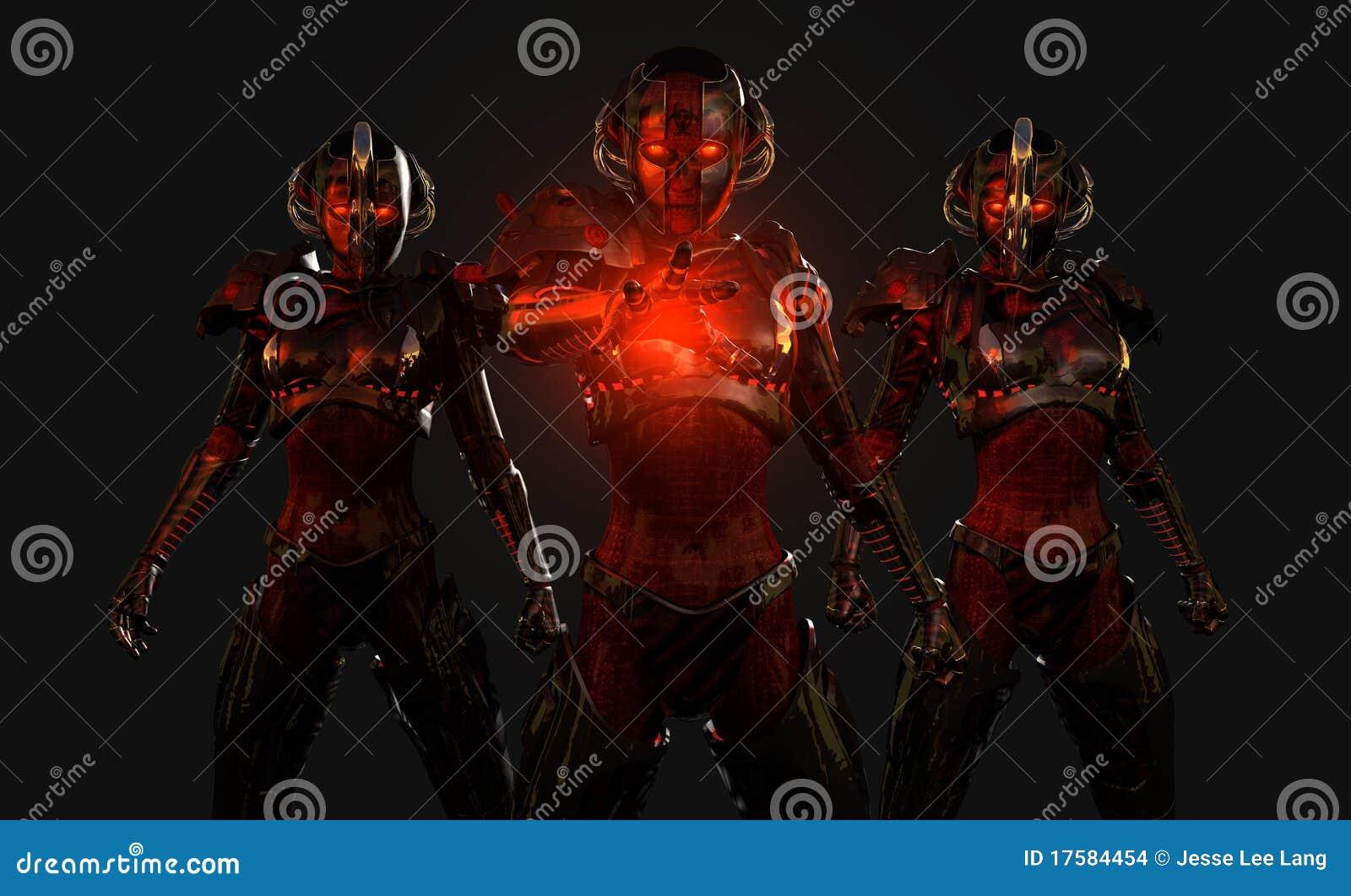 Hoch entwickelte Cyborgsoldaten