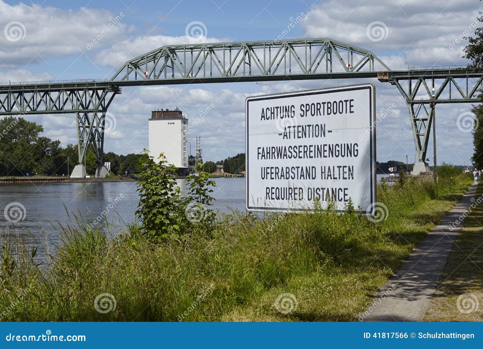 Hochdonn - Railway bridge over the Kiel Canal