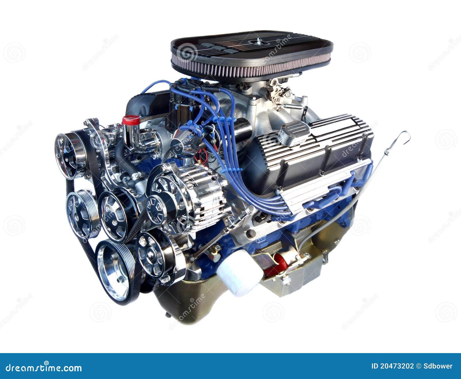 Hochleistungs Chromv8 Motor Getrennt Stockfotografie
