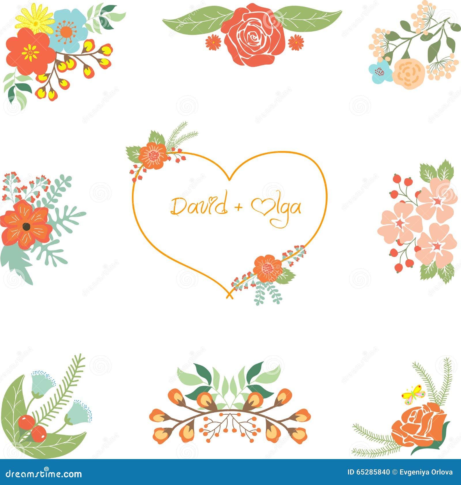 Hochzeit Clipart Stock Abbildung - Bild: 65285840