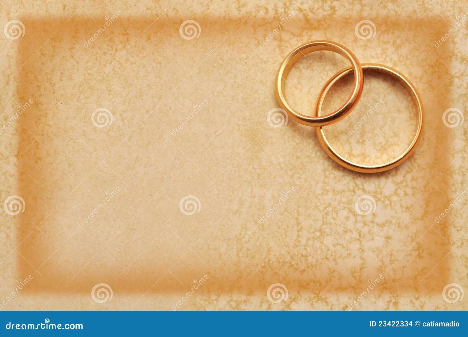 Hochzeit Grunge Karte Stockfoto Bild Von Ringe Karte 23422334
