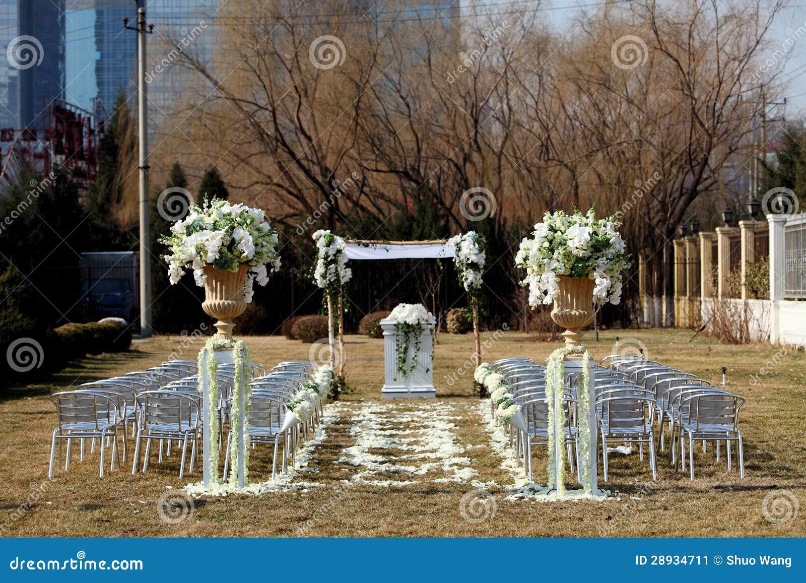 Hochzeit Szene im Freien