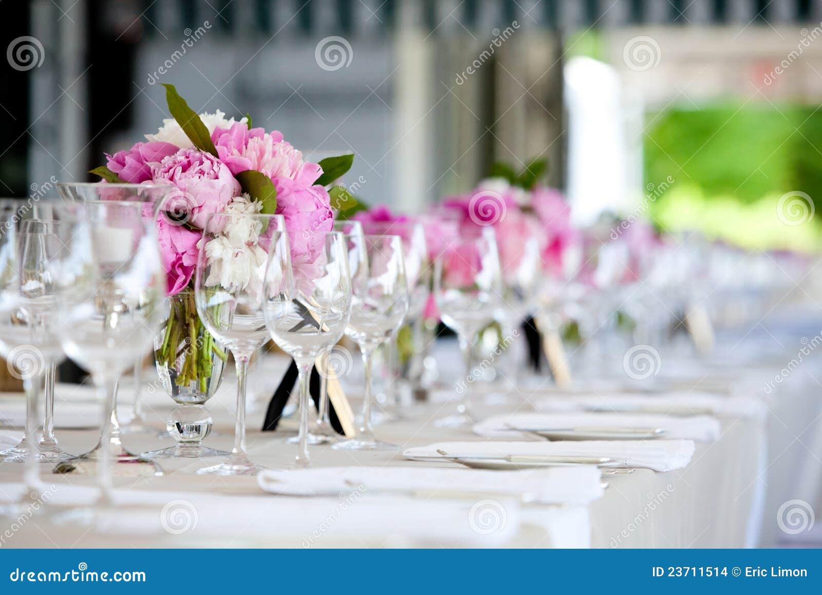 Hochzeits-Blumen-Anordnungs-Tabellen-Einstellungs-Serie