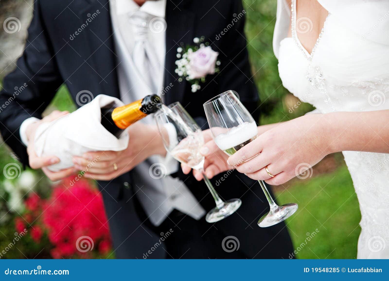 Hochzeits-Champagne-Toast