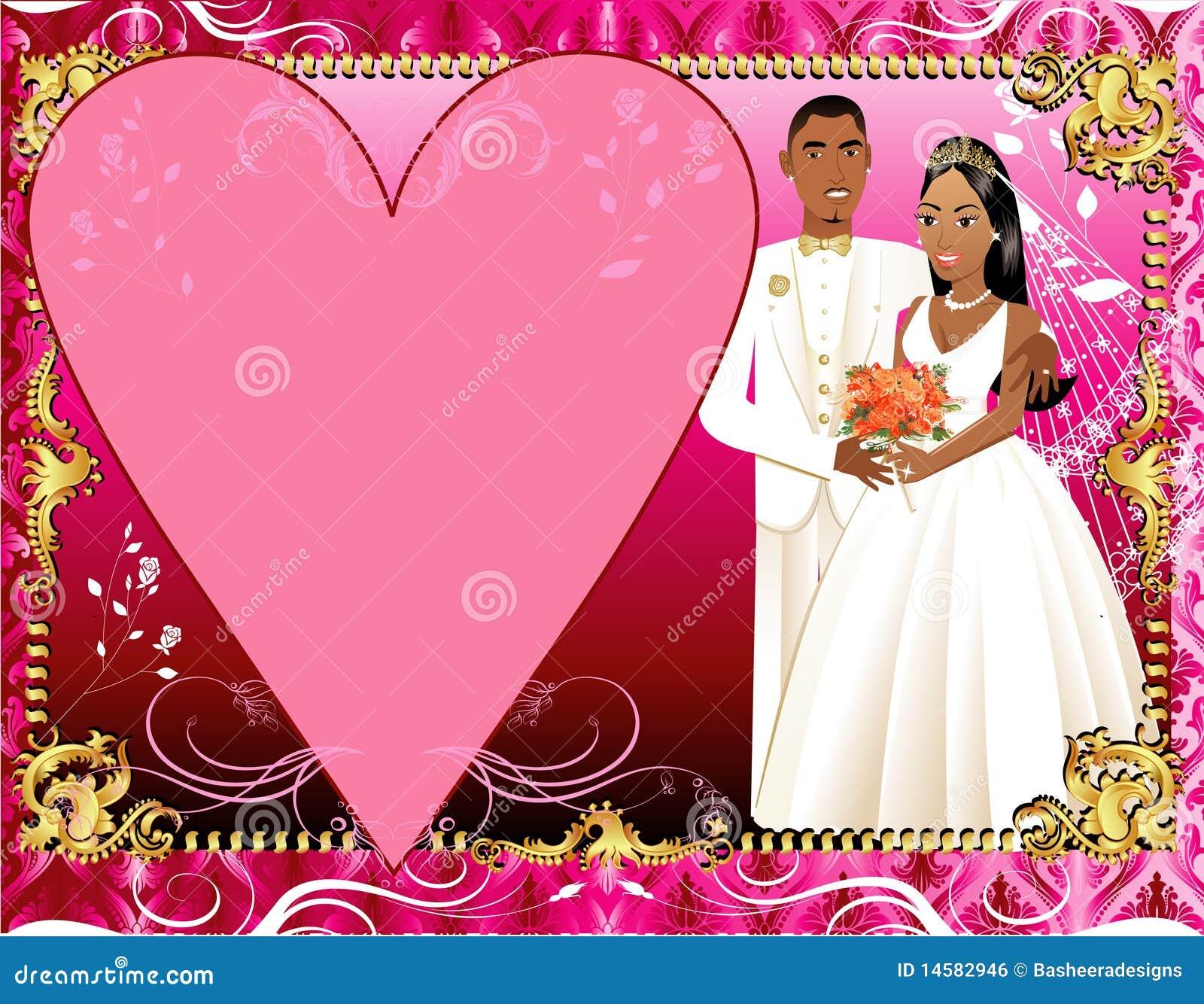 Hochzeits-Einladungs-Schablonen-Paare 3 Vektor Abbildung ...