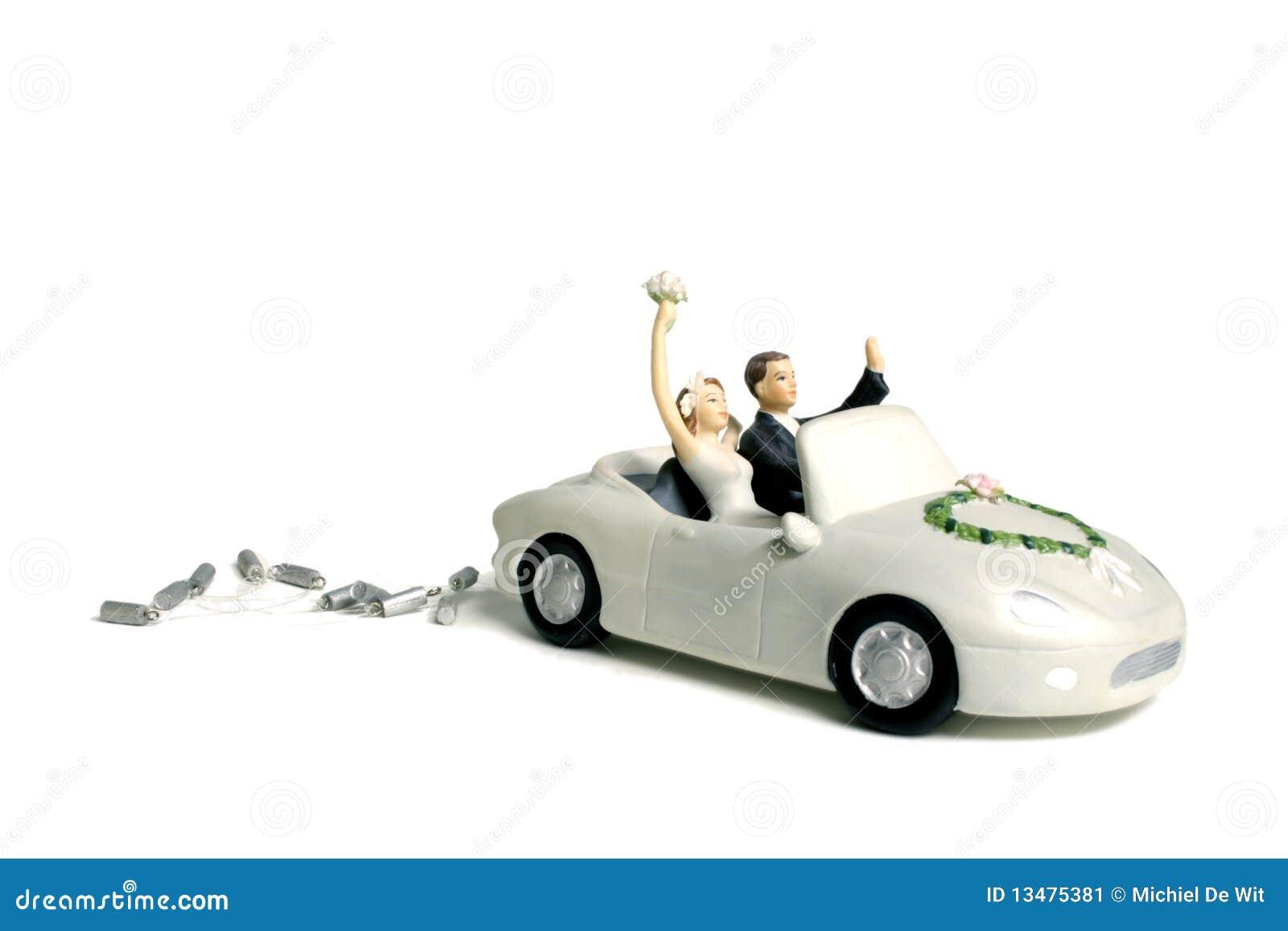Hochzeitsauto-Kuchendeckel