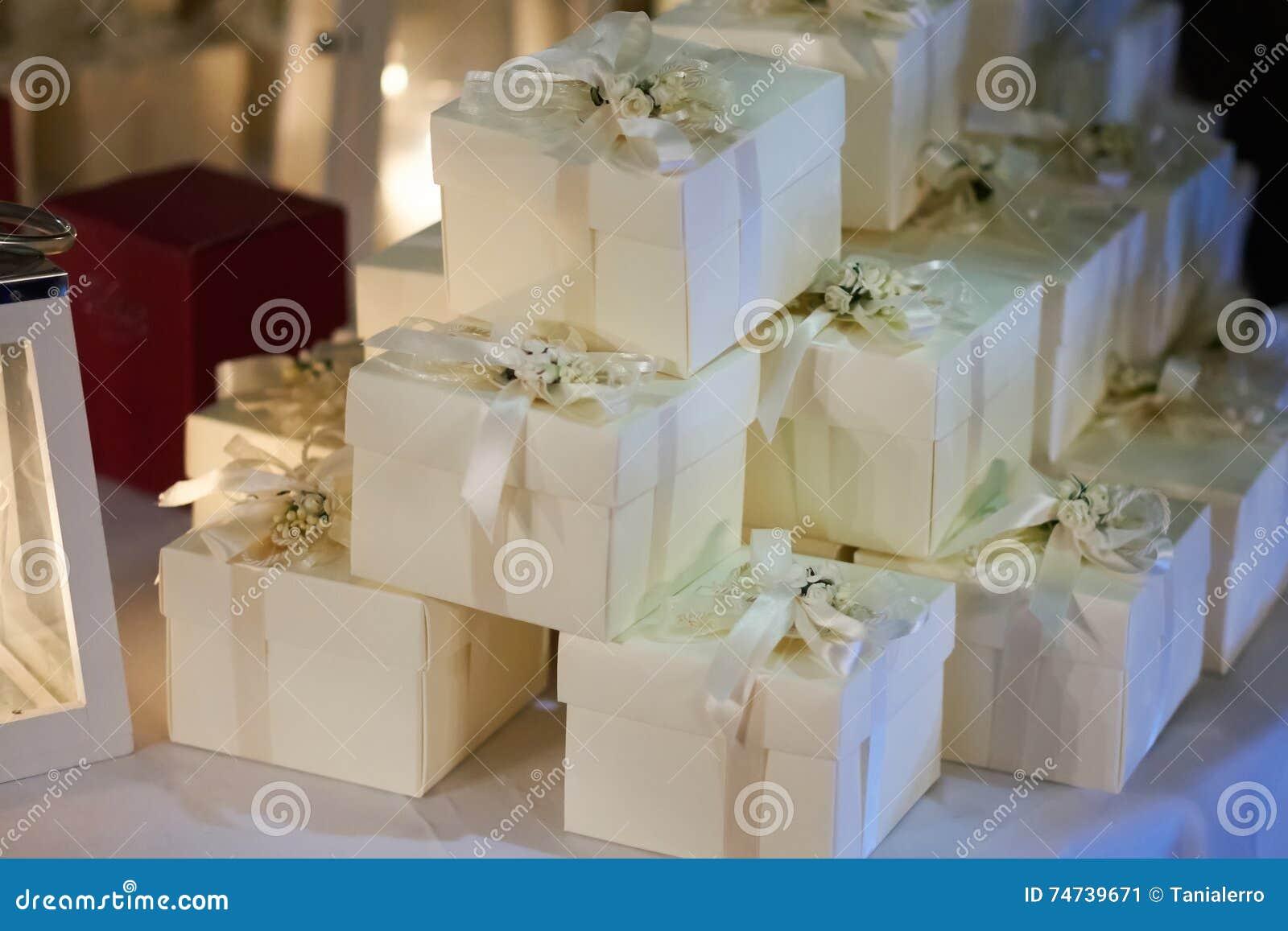 Hochzeitsbevorzugungen Fur Gast Stockbild Bild Von Zeremonie Gast