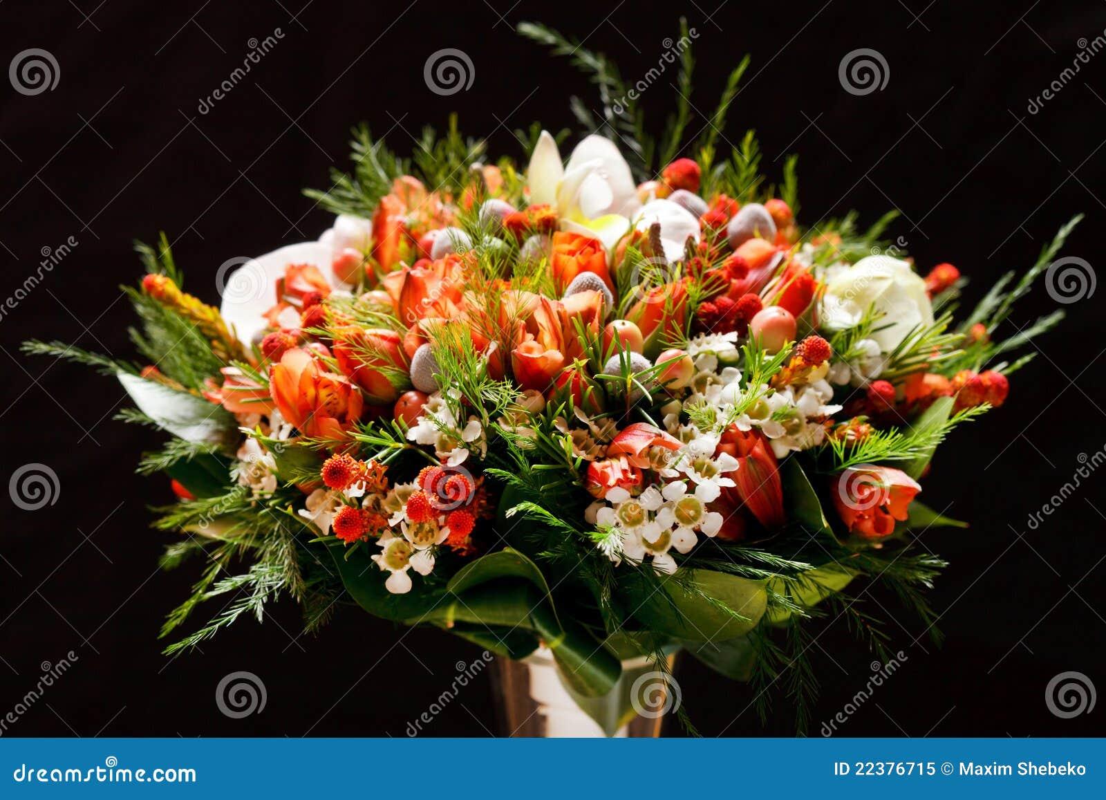 Hochzeitsblumen Stockbild Bild Von Grun Floral Orange 22376715