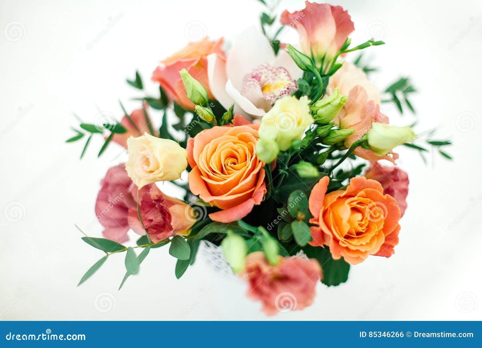 Hochzeitsblumen Im Topf Stockfoto Bild Von Botanisch 85346266