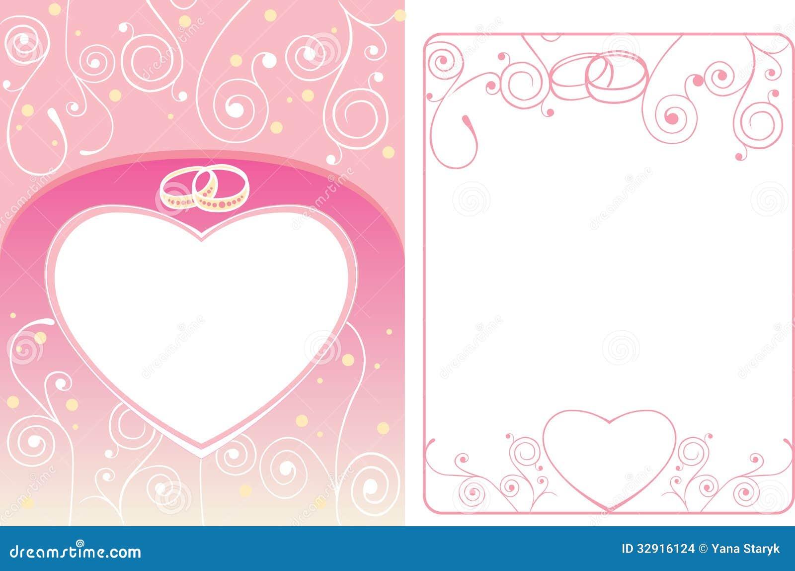 Hochzeitskarte Und -rahmen Mit Ringen Stockbilder - Bild ...