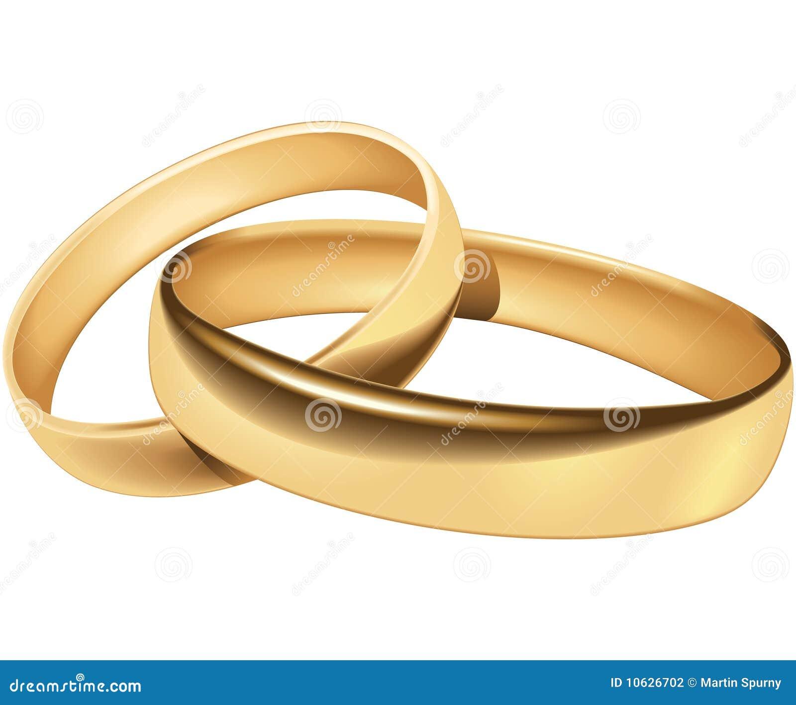 Einfache Hochzeits-Ringe