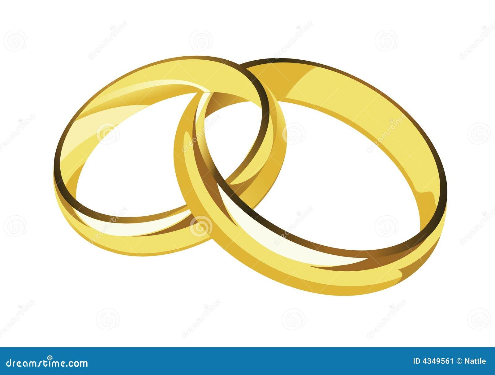 Eheringe clipart schwarz weiß  Hochzeitsringe Stockbild - Bild: 4349561