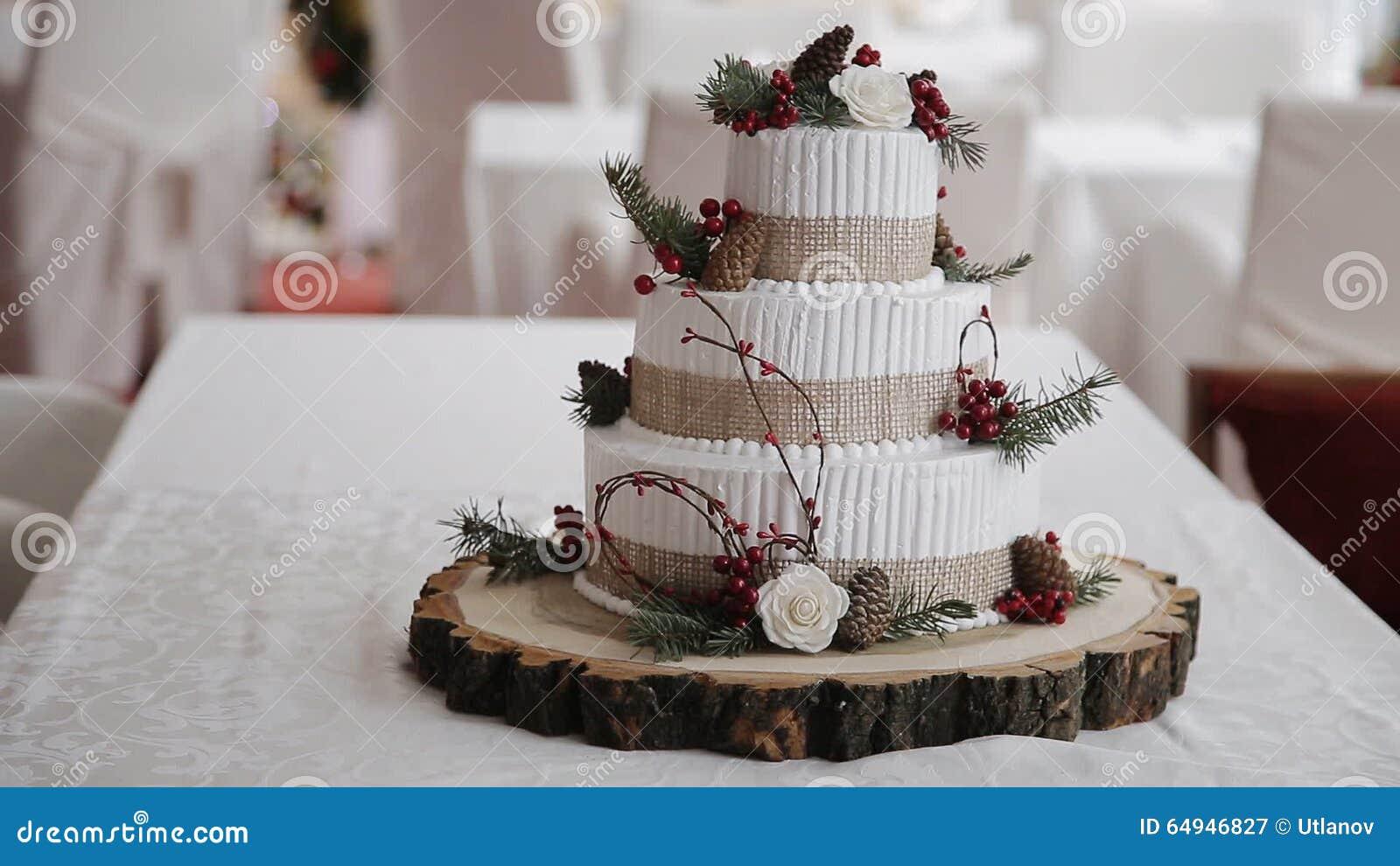 Hochzeitstorte Mit Den Beeren Rustikal Stock Video Video Von