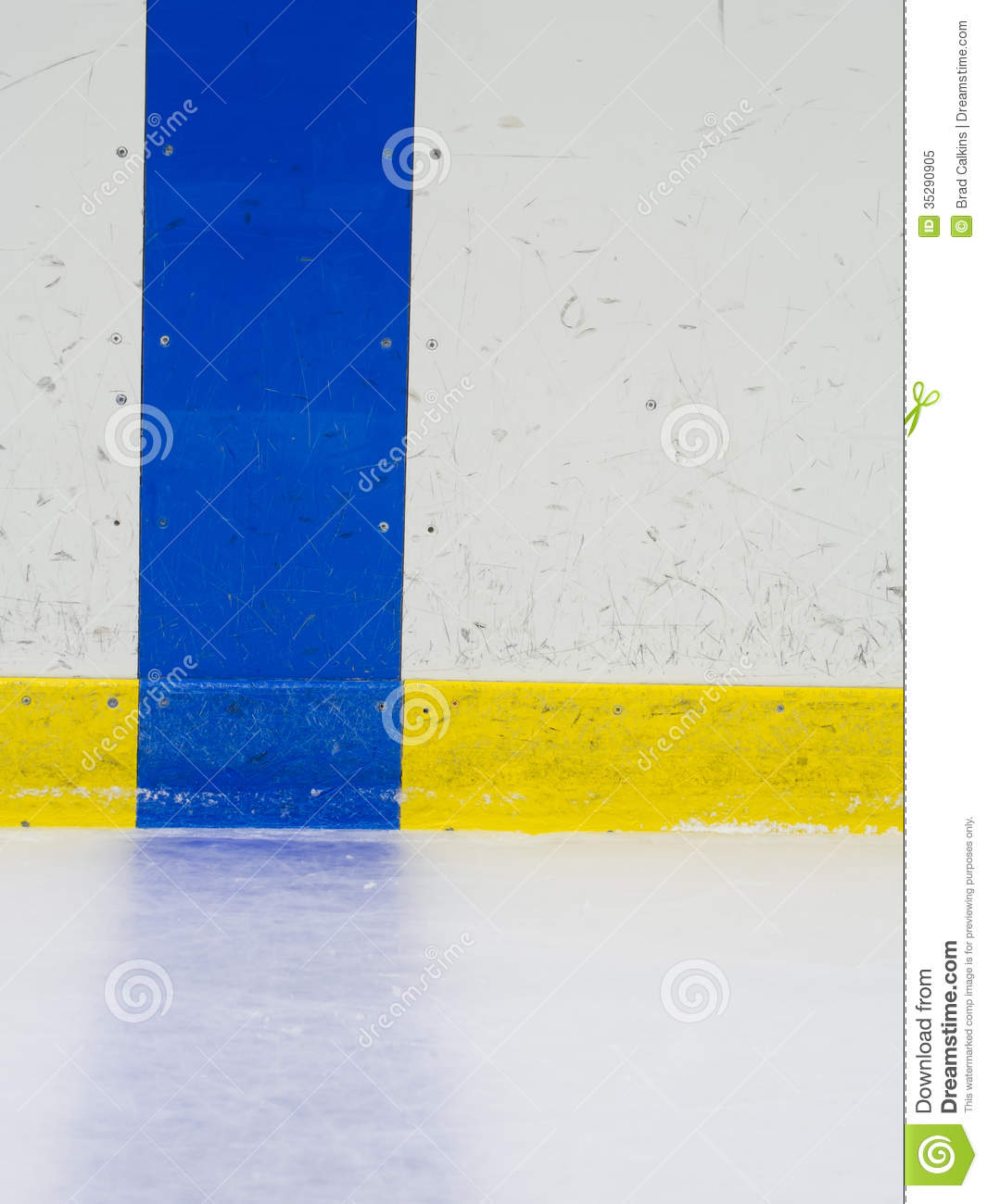 Hockey Blue Line Stock Image. Image Of Wall, Boards