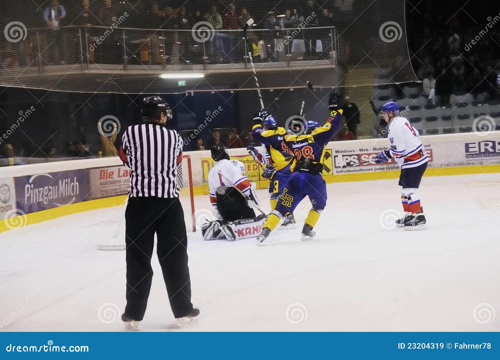 Hockey celebration editorial stock image. Image of male ...