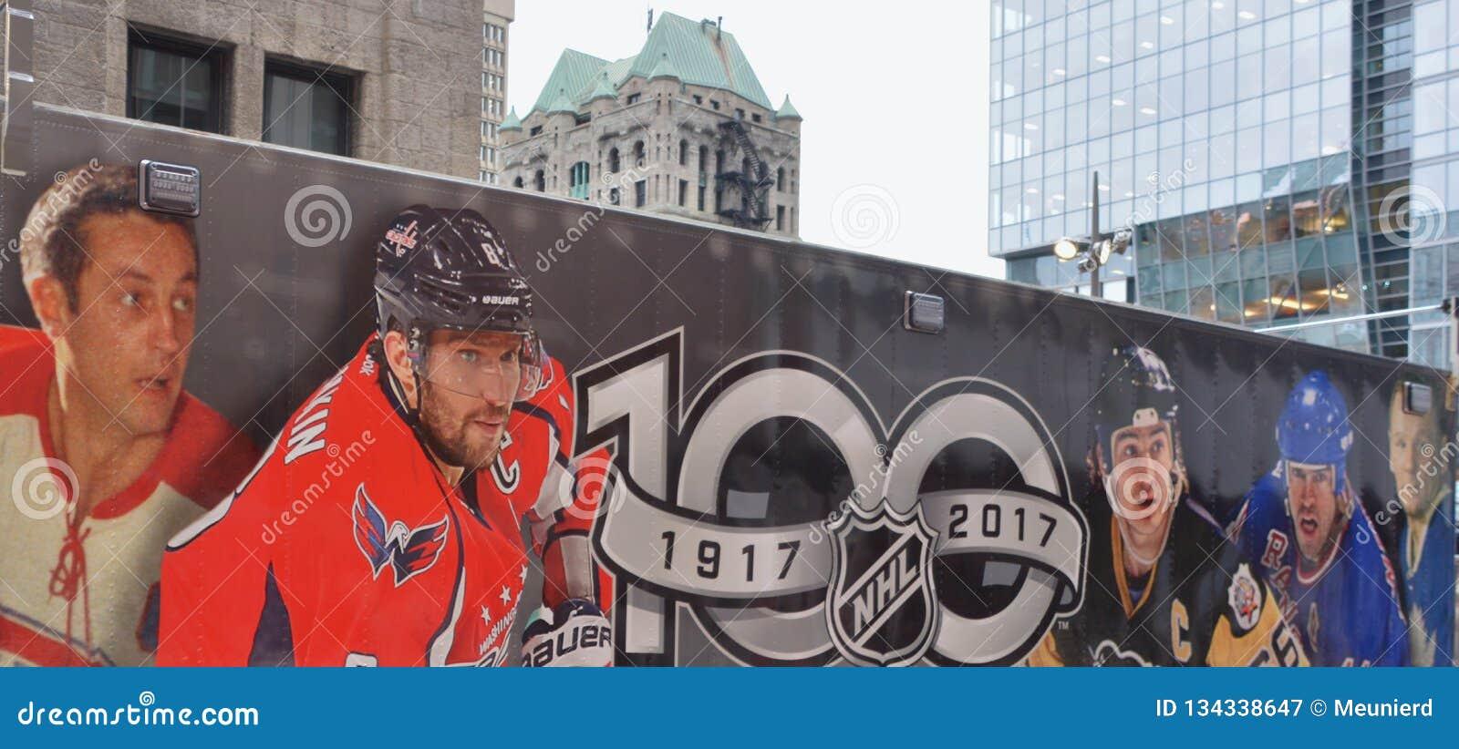 Hockey Fans Van For National Hockey League NHL Editorial