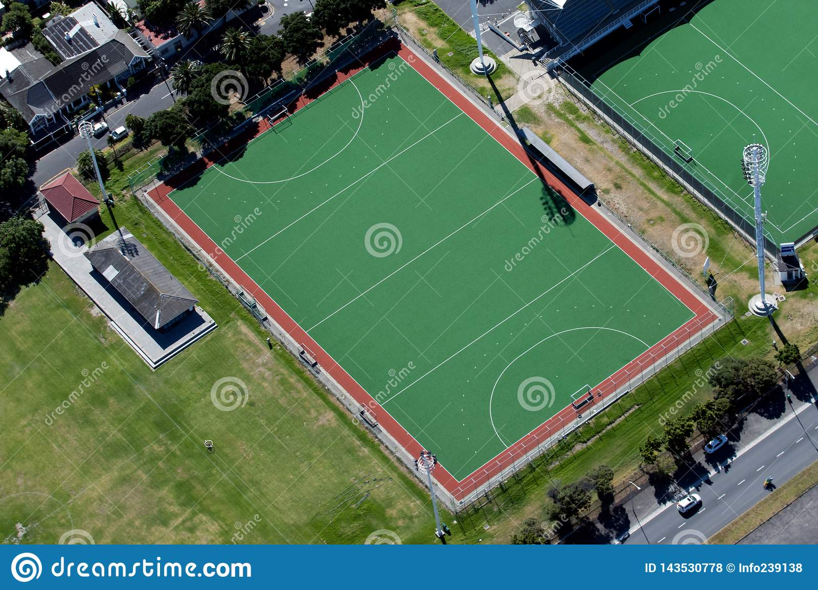 Hockey-Feld Ariel View