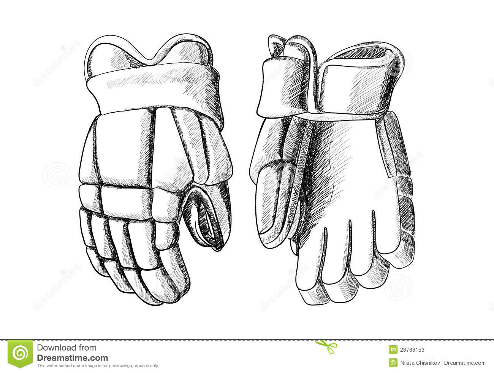 Hockey Gloves Stock Vector Image Of Fitness Sports