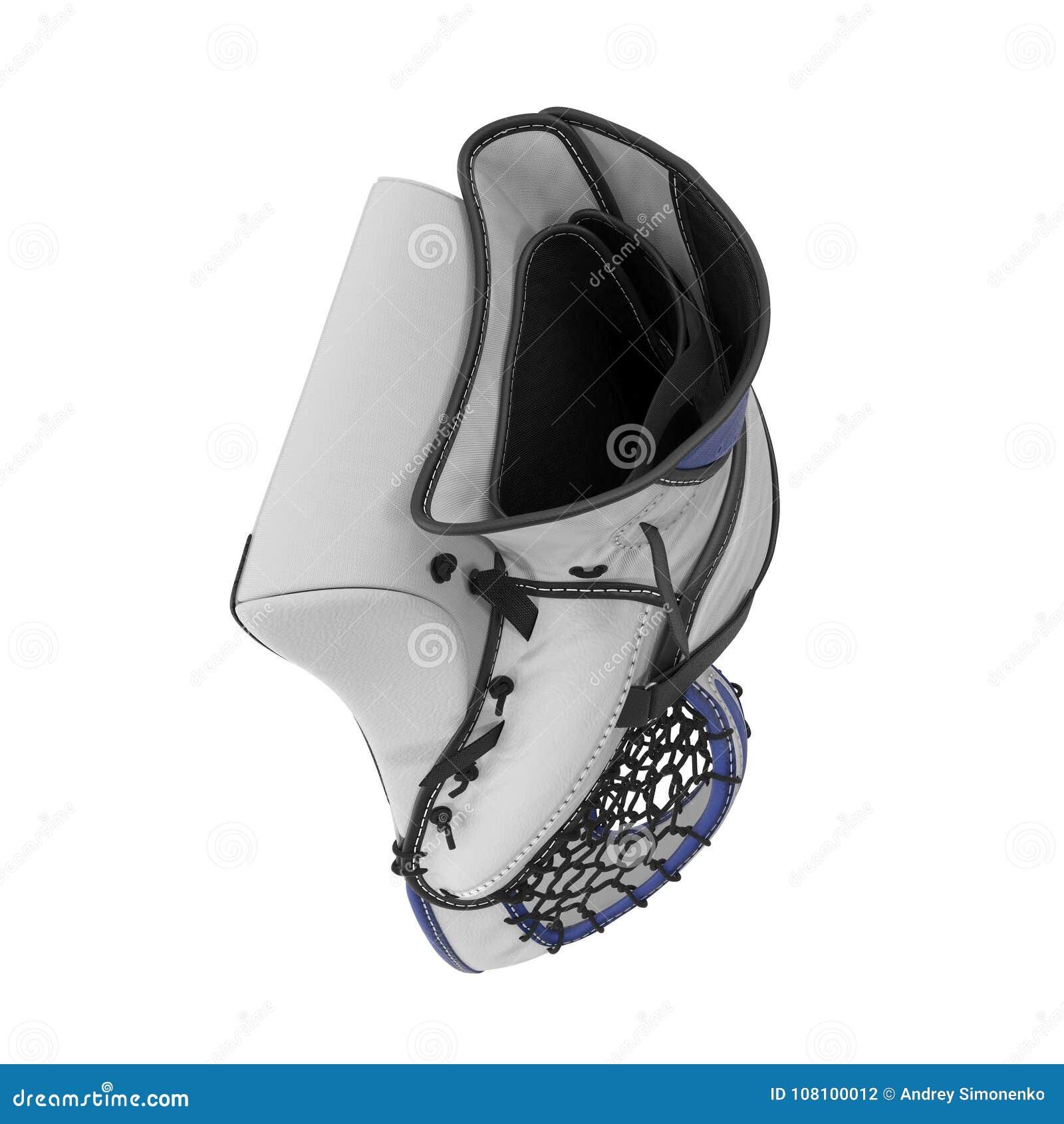Hockey Goalie Catcher Glove On White 3d Illustration Stock