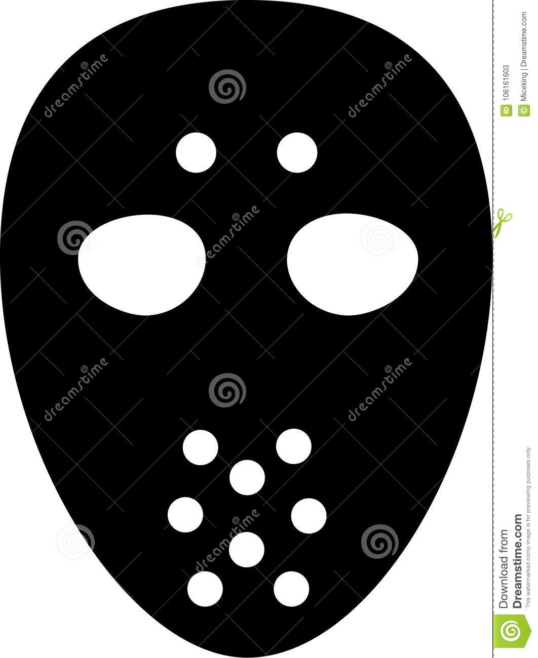 Hockey Goalie Mask Stock Vector Illustration Of Icon 106161603