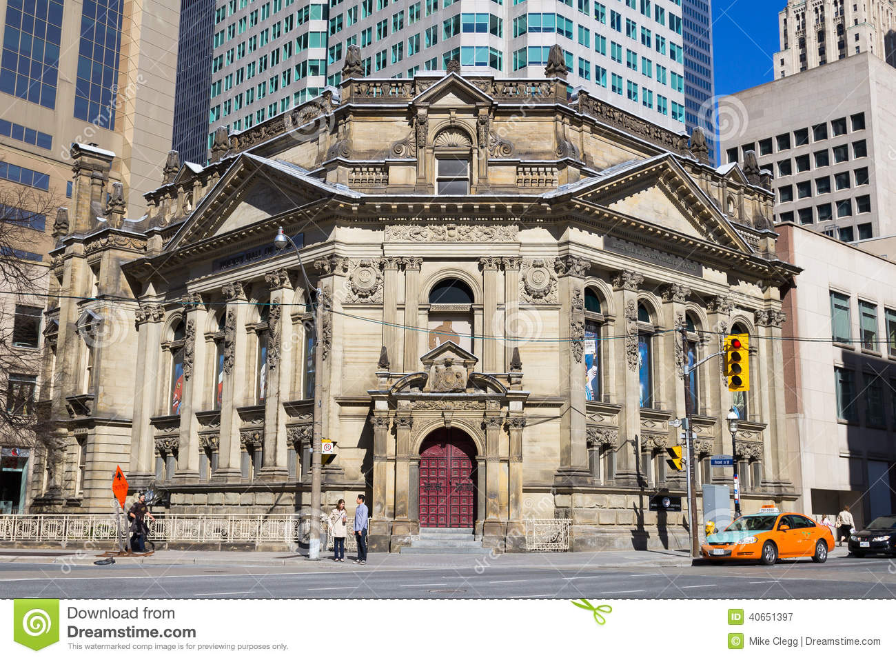 hockey hall of fame building in toronto editorial photography