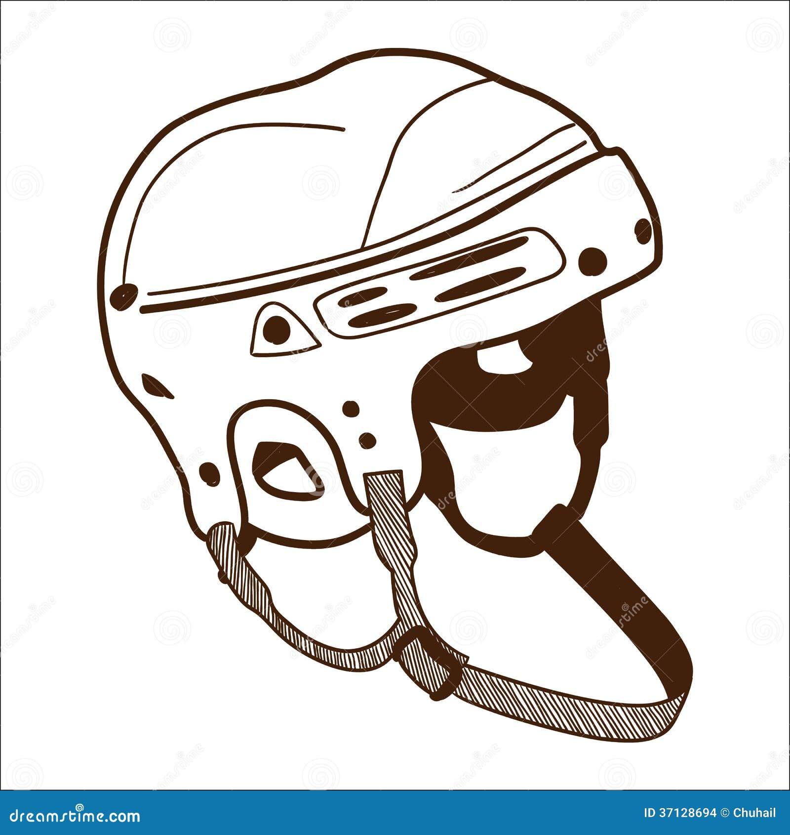 Hockey Helmet Isolated On White Stock Vector Image