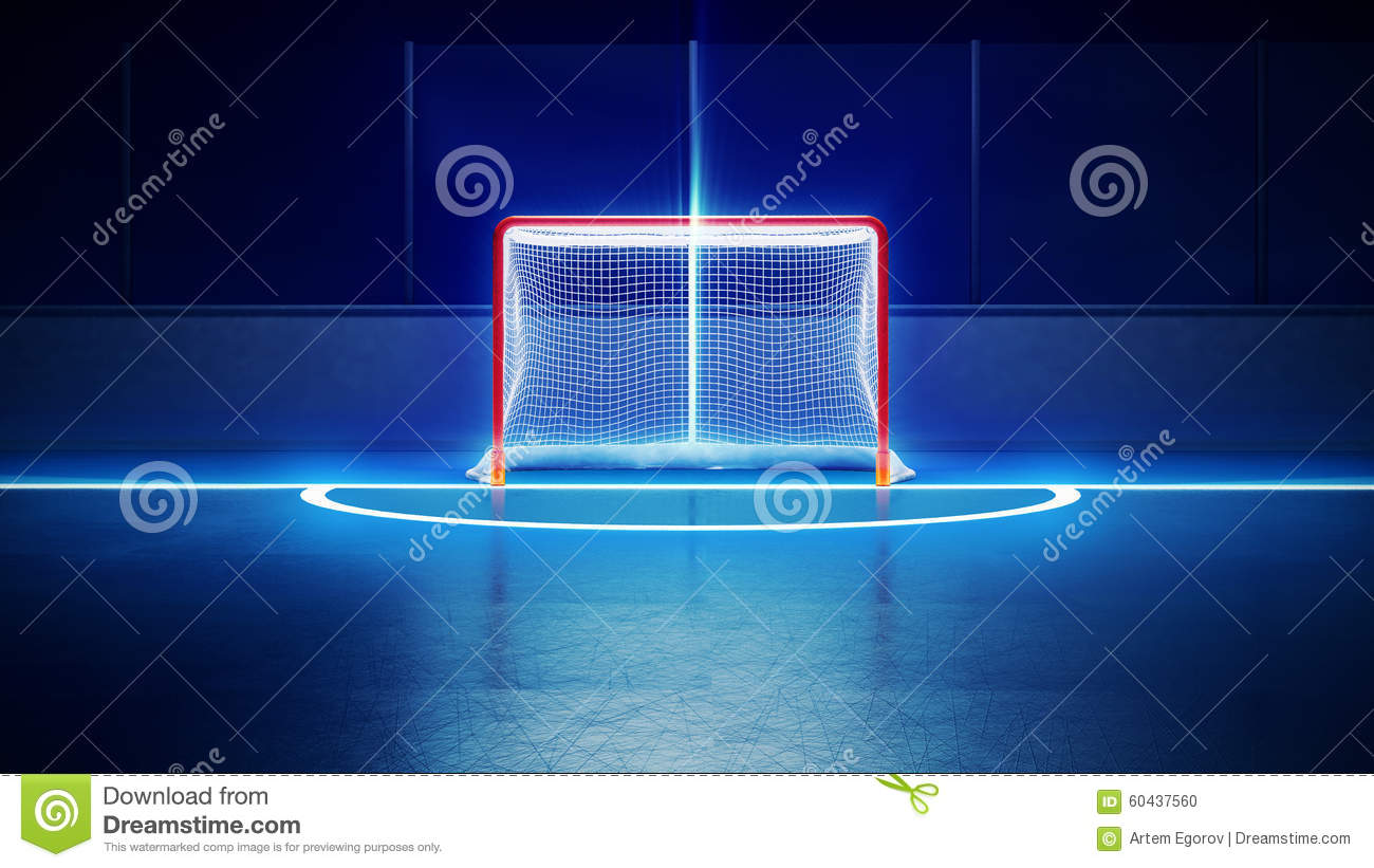 hockey ice rink and goal stock illustration  image of competition