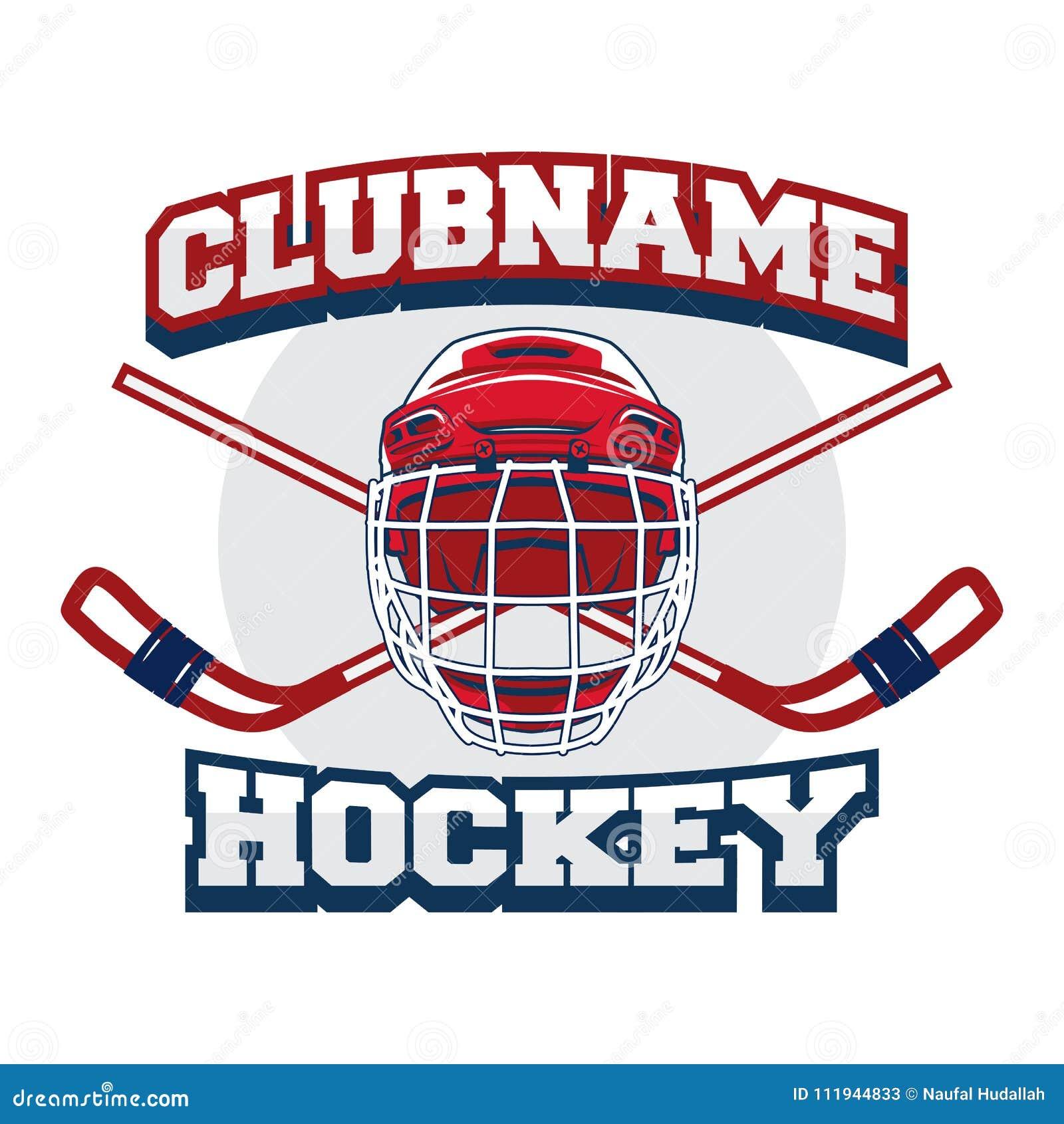 Hockey Logo Badge Emblem Template For Team And Tournament Event
