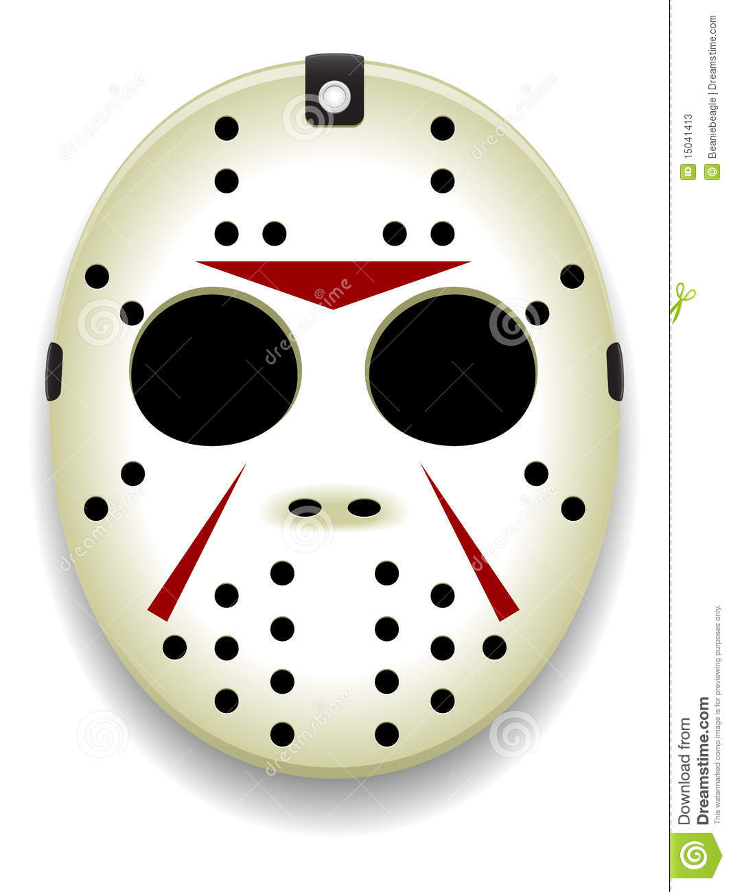 Hockey Mask Vector stock vector. Illustration of ...