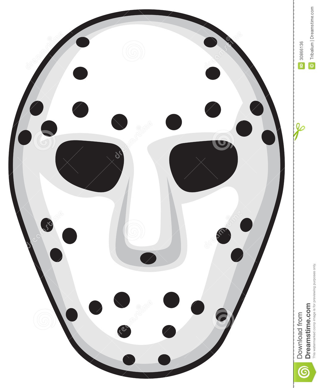 Hockey Mask Royalty Free Stock Image - Image: 30866136