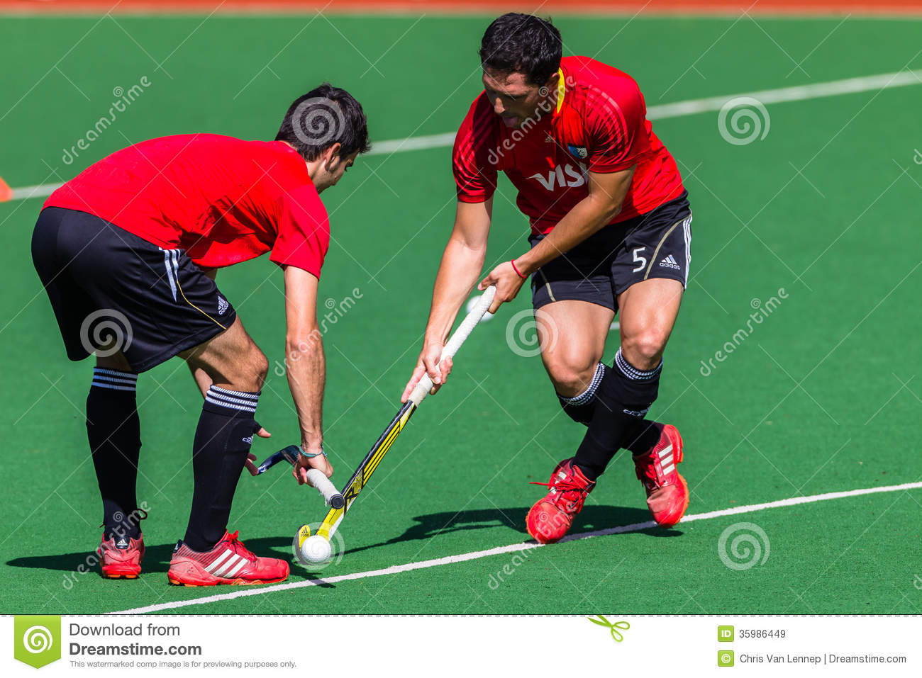 Hockey Mens Argentina Plays South Africa Editorial Stock ...
