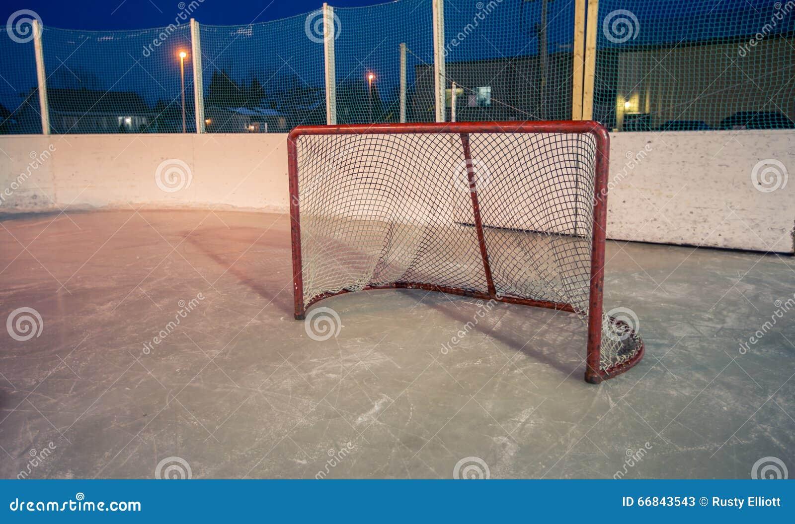 Hockey net stock image  Image of canada, winter, lights - 66843543