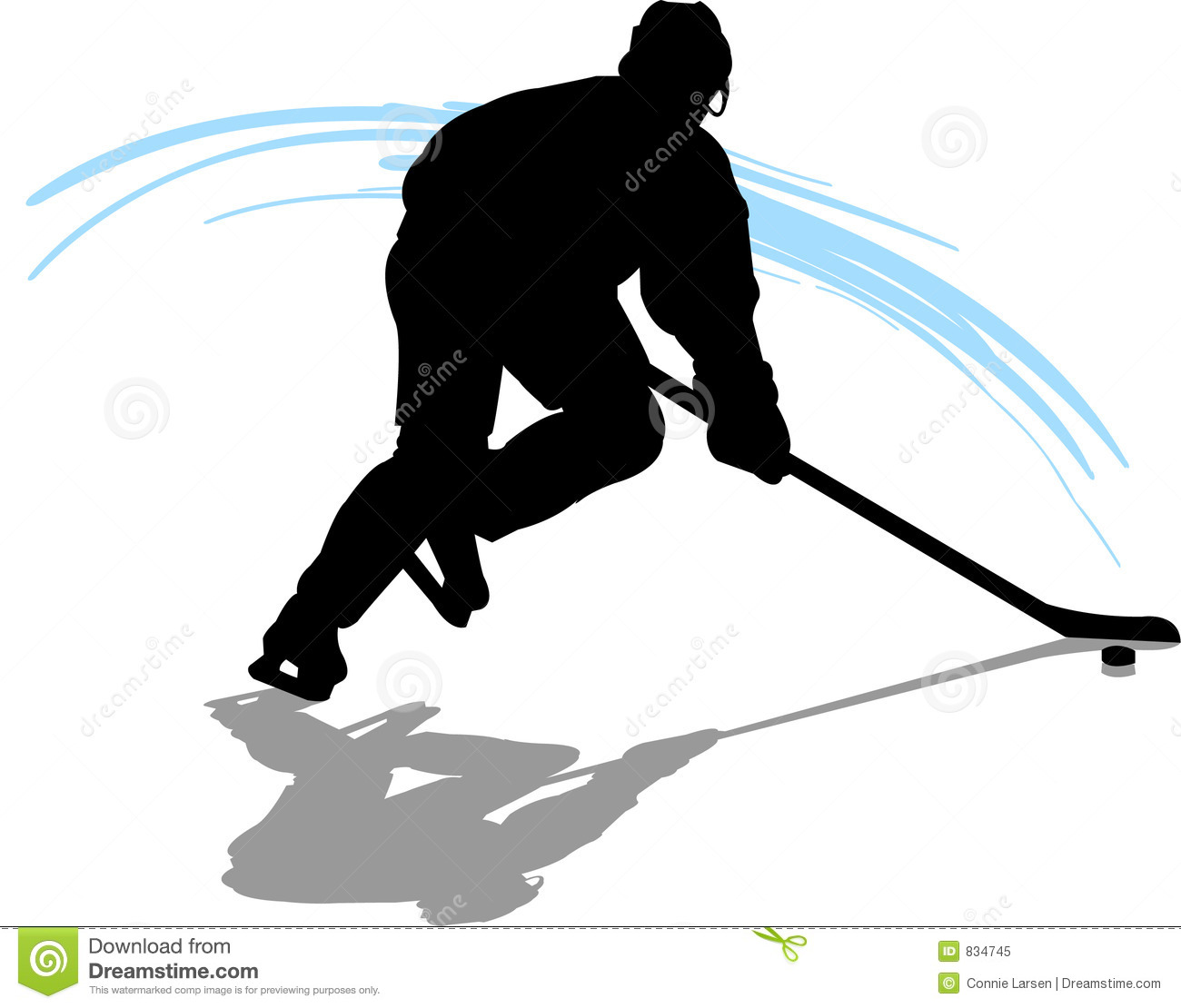 Hockey Player Royalty Free Stock Photo - Image: 834745