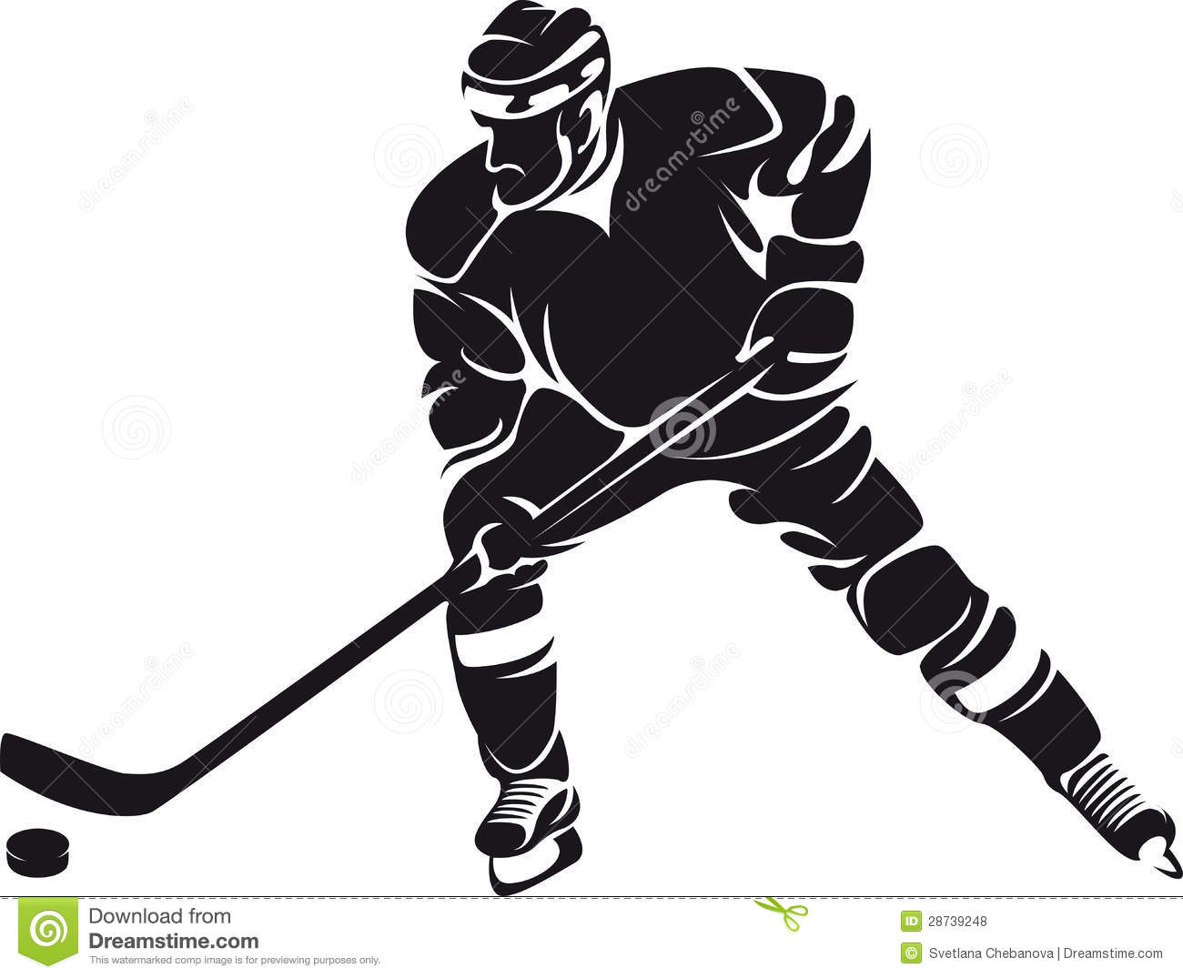 Hockey Player, Silhouette Royalty Free Stock Photos - Image: 28739248