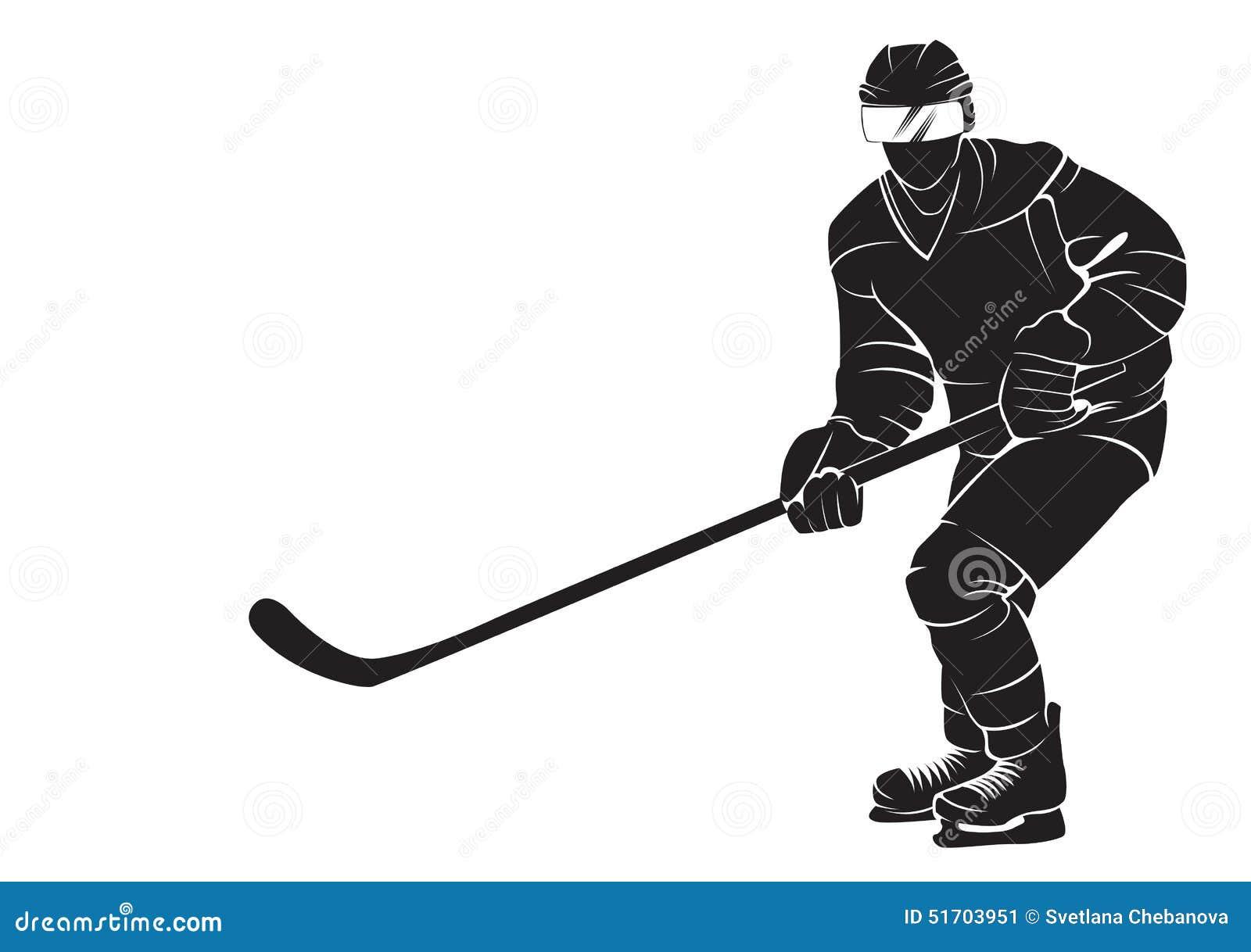Hockey Player Stock Vector Image 51703951