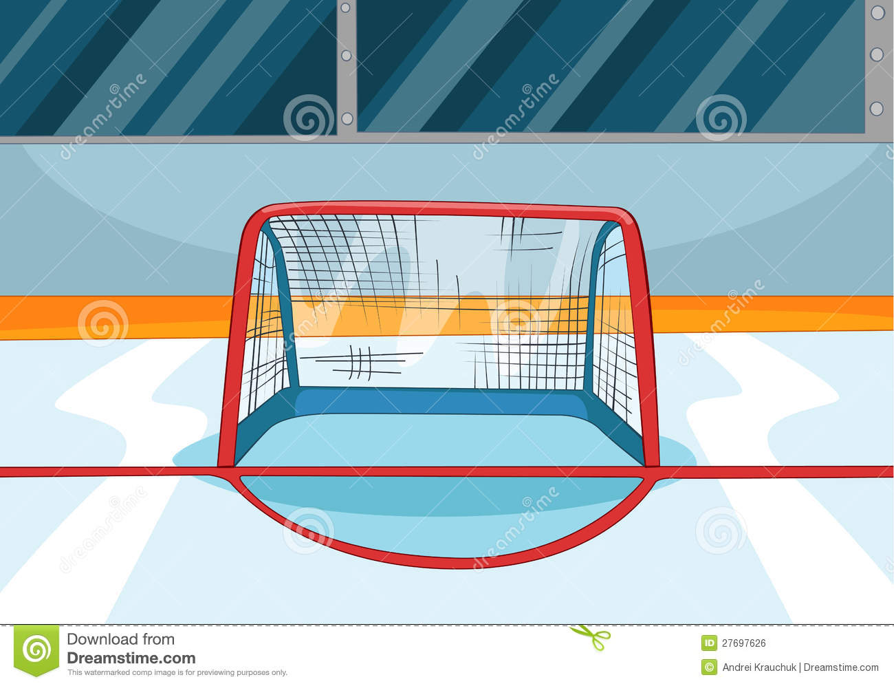 Hockey Rink Royalty Free Stock Image - Image: 27697626