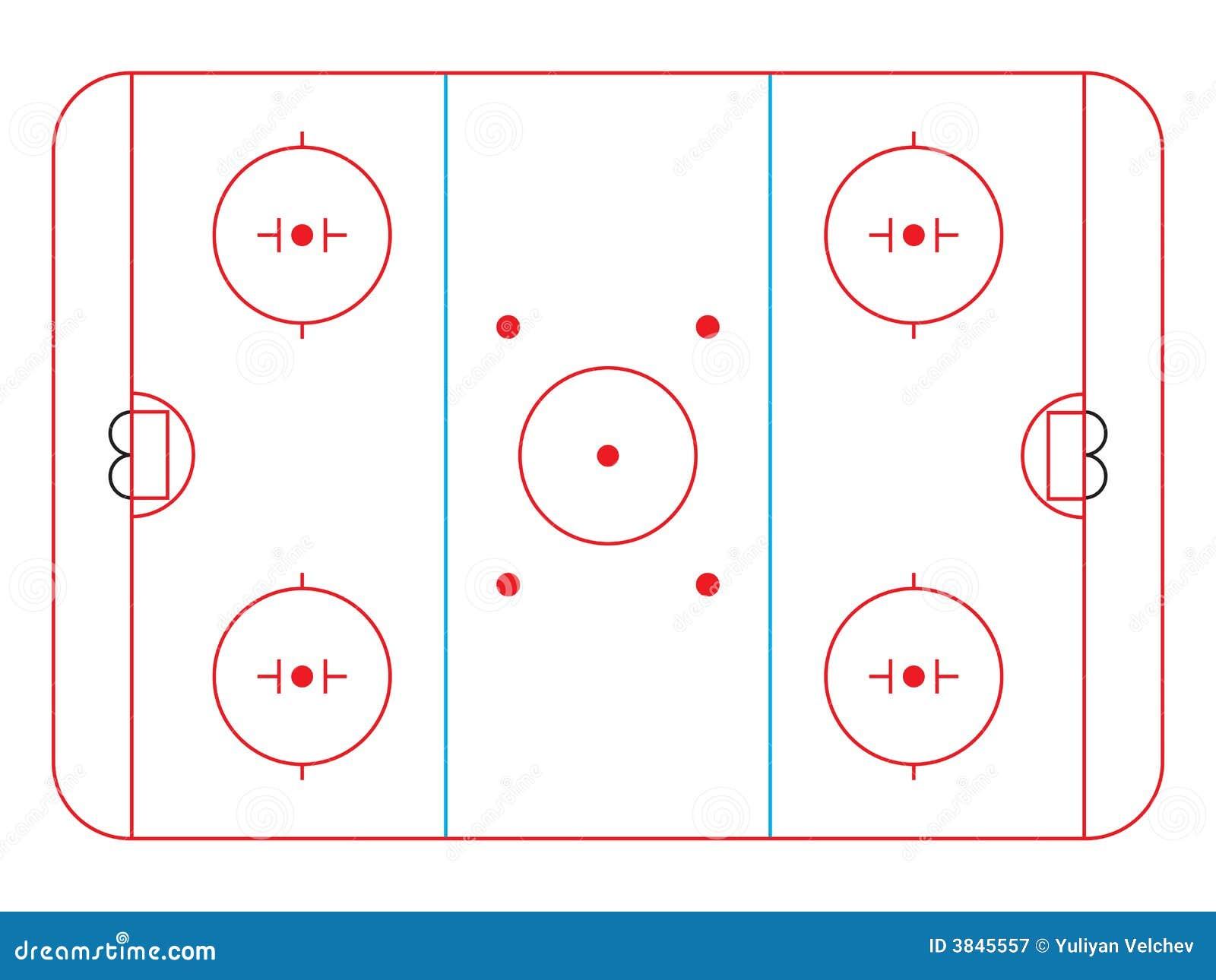 Hockey Rink Royalty Free Stock Photography - Image: 3845557