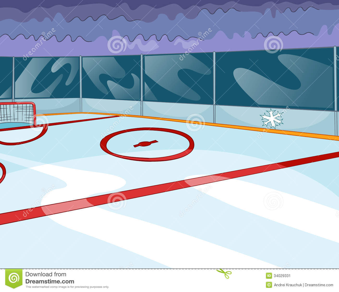 Hockey rink stock image image 34029331 for Patinage exterieur