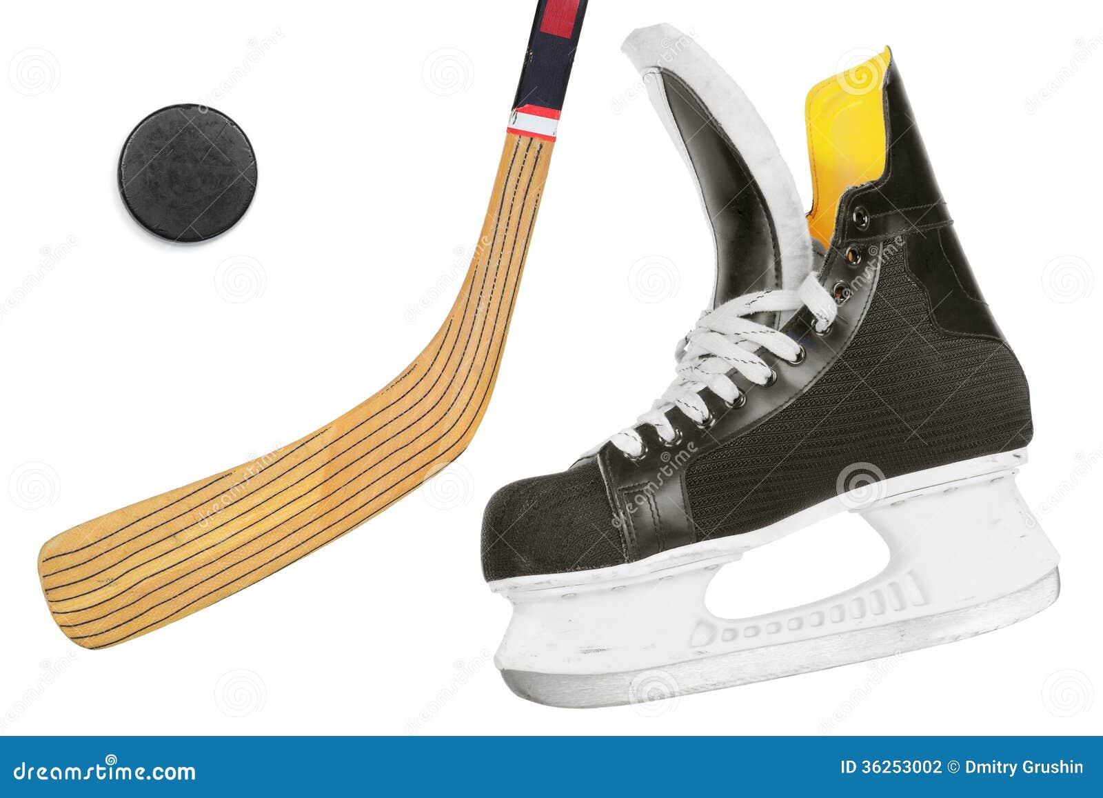 hockey skates  stick and puck stock photography image hockey stick vector image hockey stick vector image