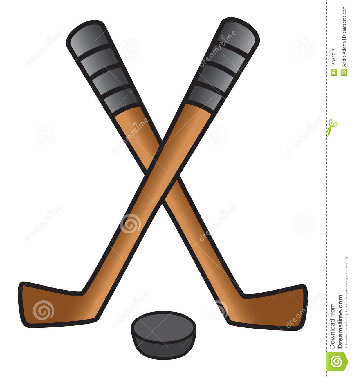Hockey Stick & Puck Royalty Free Stock Photography - Image: 16333717