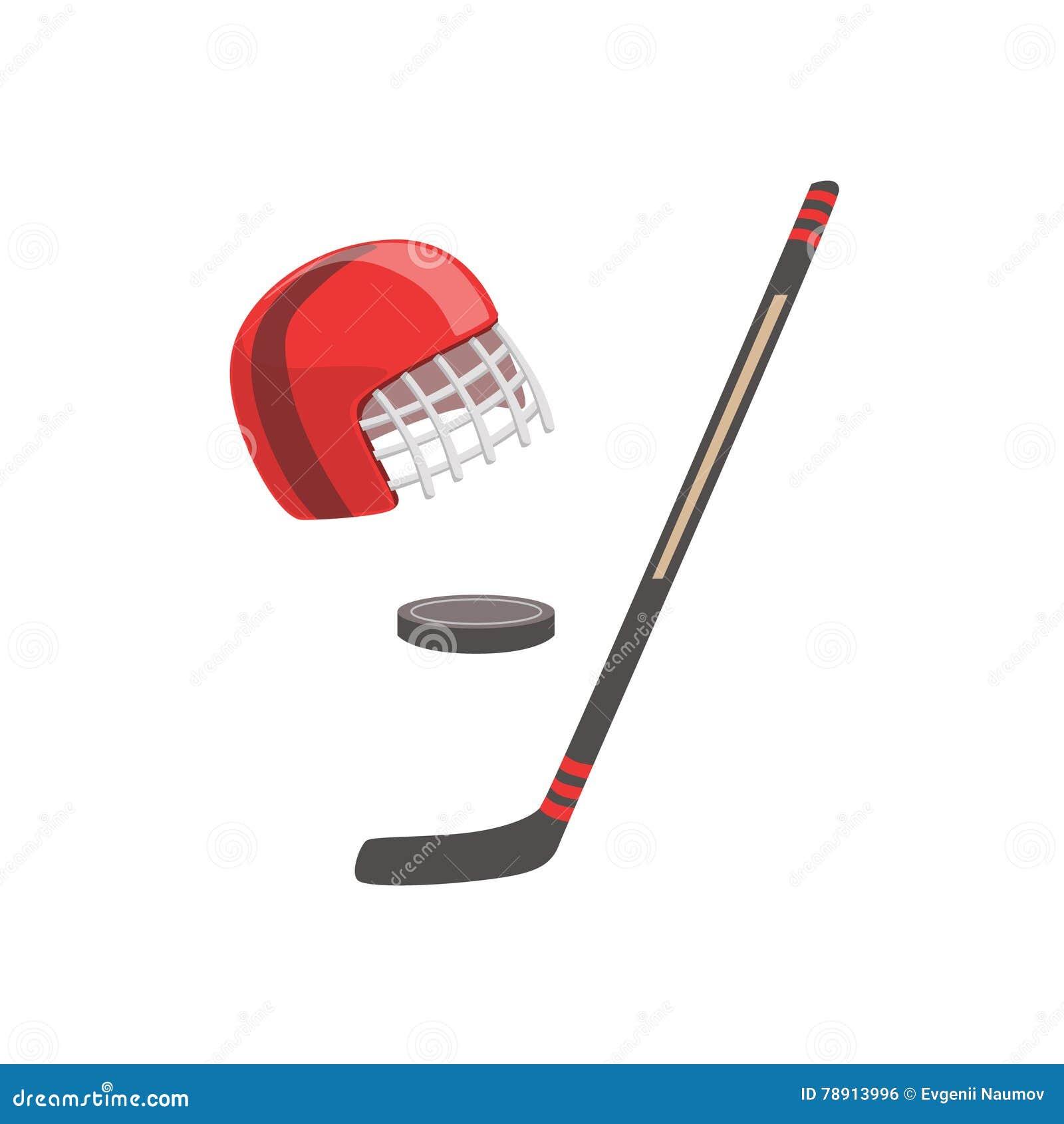 canadian hockey icons set  cartoon style vector illustration