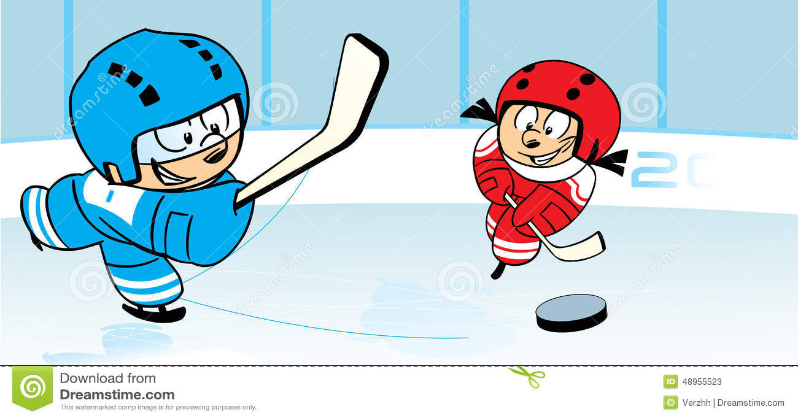 Hockey sur glace illustration de vecteur illustration du enfance 48955523 - Dessin hockey sur glace ...