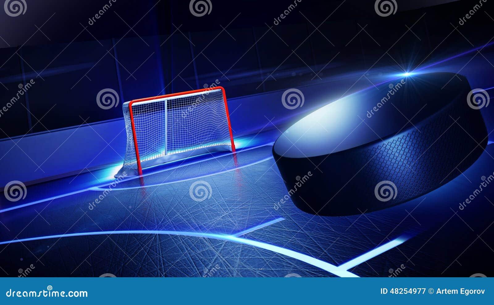 Hockeyijsbaan en doel