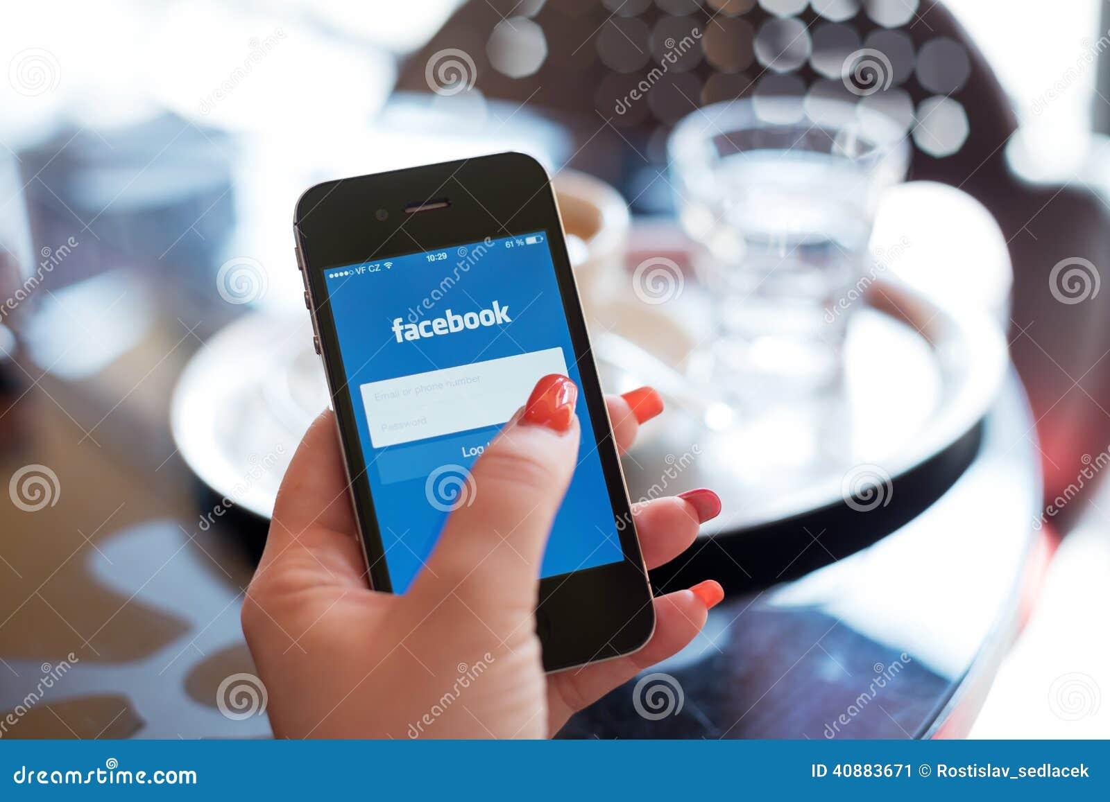 HODONIN, CZECH REPUBLIC - APRIL 7: Facebook is an online social